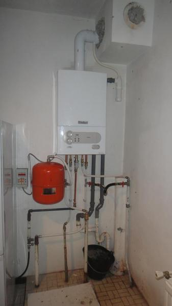 Placement chaudiere mixte vaillant ecotec plus